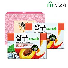 (종이케이스)무궁화 자연미인비누2P